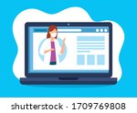 medicine online technology with ...   Shutterstock .eps vector #1709769808