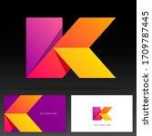 letter k logotype design  ... | Shutterstock .eps vector #1709787445