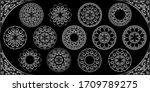 arabesque mandala design   3d... | Shutterstock .eps vector #1709789275