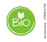 bio logo or label with green...   Shutterstock .eps vector #1709812735