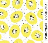 kiwi fruit seamless vector...   Shutterstock .eps vector #1709812915