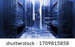 3d render concept of the modern ... | Shutterstock . vector #1709815858