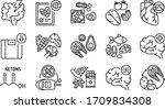 ketogenic diet black line icons ...   Shutterstock .eps vector #1709834308