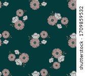 simple cute lotus floral... | Shutterstock .eps vector #1709859532