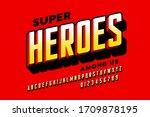 comics super hero style font... | Shutterstock .eps vector #1709878195