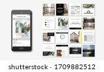 social media pack posts for... | Shutterstock .eps vector #1709882512