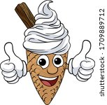 an ice cream waffle cone with...   Shutterstock .eps vector #1709889712