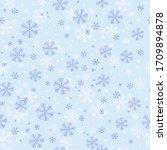 Snowflake Seamless Pattern On...