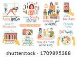 quarantine activities... | Shutterstock .eps vector #1709895388