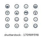 smile icons | Shutterstock .eps vector #170989598