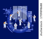 disinfection services   deep... | Shutterstock .eps vector #1709898688