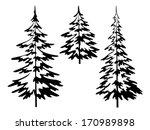 christmas fir trees  symbolical ... | Shutterstock .eps vector #170989898