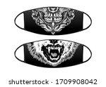 virus protection black mask... | Shutterstock .eps vector #1709908042