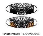 virus protection black mask...   Shutterstock .eps vector #1709908048