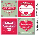 valentine's day cards | Shutterstock .eps vector #170991386