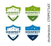 disinfectant logo vector.... | Shutterstock .eps vector #1709917165