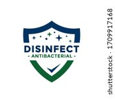 disinfectant logo vector.... | Shutterstock .eps vector #1709917168