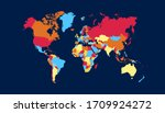 world map color vector modern | Shutterstock .eps vector #1709924272