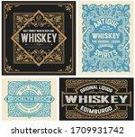 set of 4 vintage labels. vector ... | Shutterstock .eps vector #1709931742