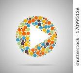 creative concept vector play... | Shutterstock .eps vector #170995136