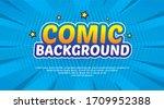 pop art comic background.... | Shutterstock .eps vector #1709952388