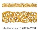 Rococo pattern frame border ...