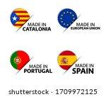 set of four catalonia  european ... | Shutterstock .eps vector #1709972125