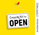come in we are open sign vector ... | Shutterstock .eps vector #1709974822