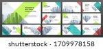 business powerpoint... | Shutterstock .eps vector #1709978158