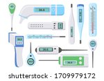 set of medical thermometers for ... | Shutterstock .eps vector #1709979172