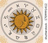 Vector Circle Of The Zodiac...