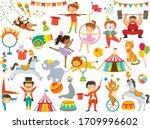 circus clipart set. circus... | Shutterstock .eps vector #1709996602