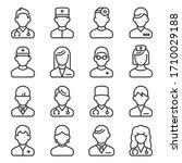 doctor icons set on white... | Shutterstock .eps vector #1710029188