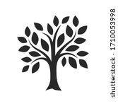 simple tree decor silhouette... | Shutterstock .eps vector #1710053998