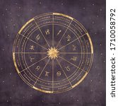 Astrological Chart With Signs...