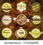 set of retro vintage labels.... | Shutterstock .eps vector #171006005