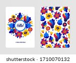 cover design with floral... | Shutterstock .eps vector #1710070132