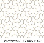 seamless geometric gold pattern.... | Shutterstock .eps vector #1710074182