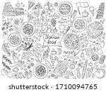 set of italian cuisine food... | Shutterstock .eps vector #1710094765