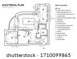 plan wiring lighting.... | Shutterstock . vector #1710099865