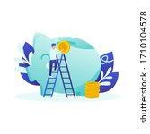 vector flat illustration  a... | Shutterstock .eps vector #1710104578
