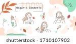 beauty girl take care of her... | Shutterstock .eps vector #1710107902