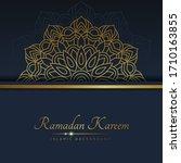 ramadan background luxury... | Shutterstock .eps vector #1710163855