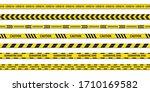 set of danger or warning... | Shutterstock .eps vector #1710169582