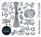 homemade pasta collection... | Shutterstock .eps vector #1710171208