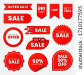 sale   creative banner set... | Shutterstock .eps vector #1710177595