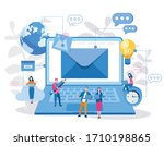 mail service  e mail message ... | Shutterstock .eps vector #1710198865