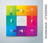 abstract 3d digital... | Shutterstock .eps vector #171020402