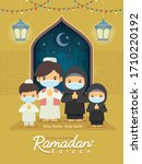 ramadan kareem greeting... | Shutterstock .eps vector #1710220192