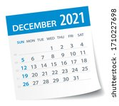 december 2021 calendar leaf  ...   Shutterstock .eps vector #1710227698